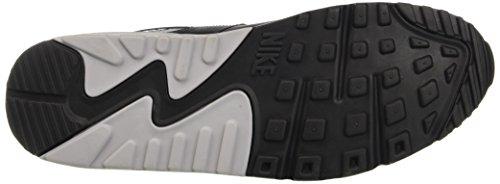 NIKE Air Max 90 Essential - Zapatillas de correr de cuero hombre Negro (black/wolf grey-anthracite-white)