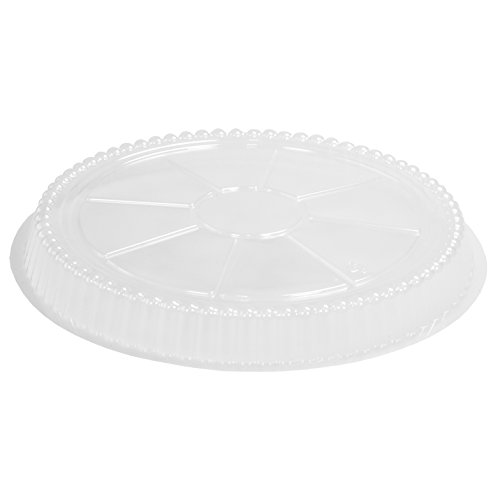 Simply Deliver 7-Inch Round Disposable Plastic Dome Lid for Take-Out Pan, Clear, 1000-Count