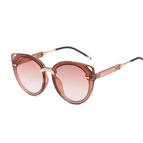 nbsp;gafas GGSSYY estilo tamaño tamaño verano marco mujer marrón moda de sol nbsp; de gran Uv400 moda de nbsp;mujeres Brown gafas nbsp; espejo nbsp;gran sol qrtw7Wr8