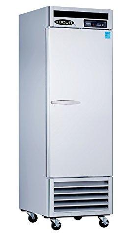 Kool-It KBSF-1 Stainless Steel Single Door Freezer Bottom Mount Compressor, 26-51/64'' Width x 82-89/128'' Height x 31'' Depth by Kool-It