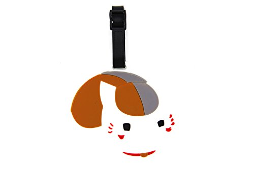 CellDesigns Cartoon Luggage Tag Suitcase ID Tag with Adjustable Strap (Natsume Yuujinchou Nyanko Sensei Cat)