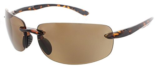 Island Life Rimless Sunglasses TR90 Frame for Men and Women - Available in Polarized or Non-Polarized