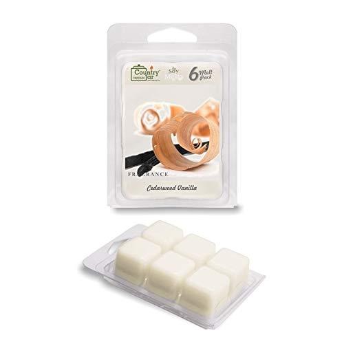 Country Jar Cedarwood Vanilla Soy Wax Melts (2.75 oz. 6-Cb.) Scented Fragrance Tarts : Winter Sale!