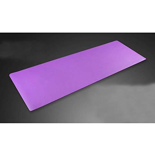 ASJHK ヨガマット天然ゴムヨガマットフィットネスマットエクササイズ肥厚幅広スリップ防止男性と女性のプロのヨガマット ヨガマット (色 : Purple, サイズ さいず : 4mm) 4mm Purple B07P9G8897