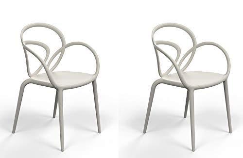 qeeboo Loop sillón, plástico, Color Gris: Amazon.es: Hogar