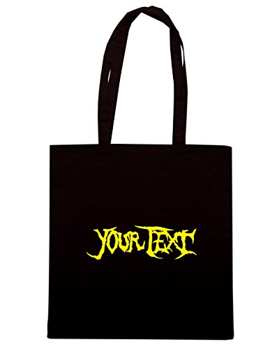 T-Shirtshock - Bolsa para la compra FUN1129 custom metal brutality t shirt Negro