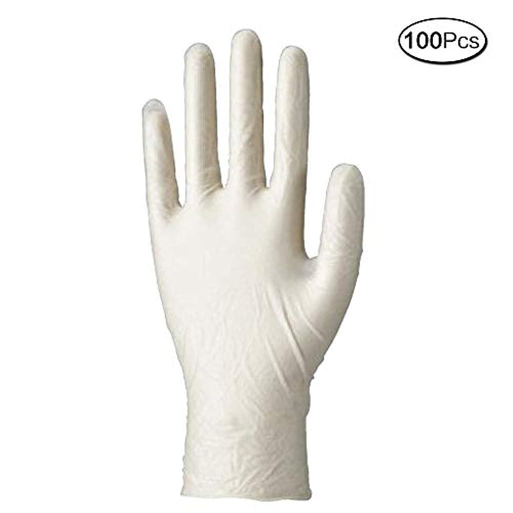 ブレークフォルダキャンパス使い捨て手袋 マイスコPVCグローブ 粉なし (サイズ:M)100枚入り 病院採用商品