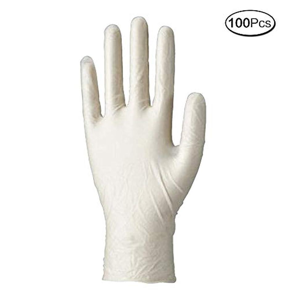 成分従順な回復使い捨て手袋 マイスコPVCグローブ 粉なし (サイズ:M)100枚入り 病院採用商品