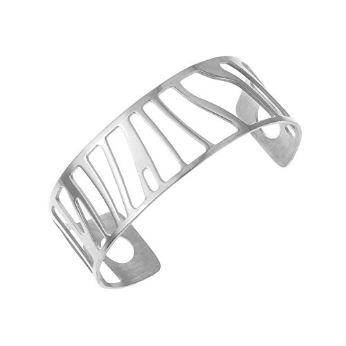 Cuff Steel Stainless Sand Bracelet (Bangles Women Hollow Stainless Steel Cuff Bracelets Bangles Bracelet Argent 1)