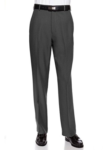 Dress Pants Gray Charcoal (RGM Men's Flat Front Dress Pant Modern Fit - Perfect for Office, Business and Every Day! Charcoal 32W x 32L)