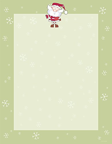 "Great Papers! 8.5"" x 11"" Imprintable Stationery, Merry Christmas Santa (2015053)"