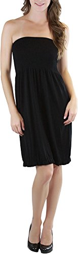 ToBeInStyle Women's Summer Tube Top Mini Dress - One Size - Black