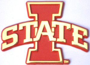 with colors AMG Iowa State Cyclones METAL Auto Emblem