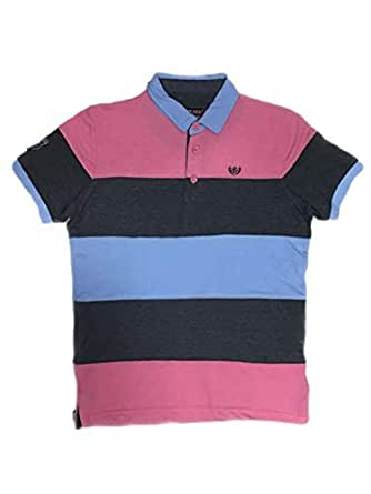 CORADO Multi Color Shirt Neck T-Shirt For Men