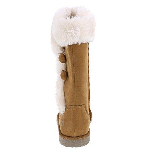 Airwalk Womens Meila Cosy Boots Cognac Suede