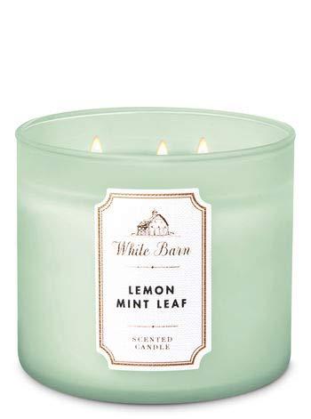 (White Barn Lemon Mint Leaf 3-Wick Candle 2019)