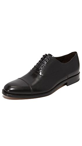 Salvatore Ferragamo Lace Up Oxfords (Salvatore Ferragamo Men's Guru Cap Toe Lace Up Shoes, Black, 10.5 EE D(M) US)