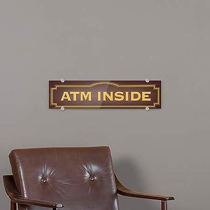 CGSignLab 24x6 Classic Brown Premium Brushed Aluminum Sign ATM Inside 5-Pack