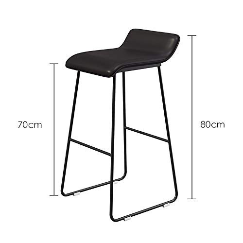 B 80cm Metal Chair, Plastic Seat Bar Restaurant Living Room Stool Balcony Attic Chair Multifunction Bar Stool Height 45-75CM (color   B, Size   75cm)
