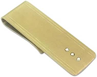 Vetelli Money Clip for Men / Credit Card Holder – Crystal Embedded (Gold/Silver)