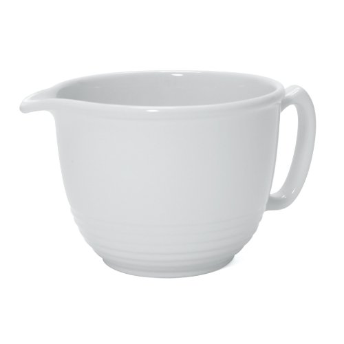 - Chantal 2-1/4-Quart Ring Batter Bowl-Glossy White