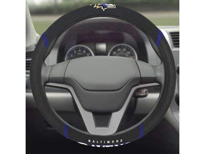 FANMATS 15621 Steering Wheel Cover NFL (Baltimore Ravens) (Ravens Steering Wheel Cover)