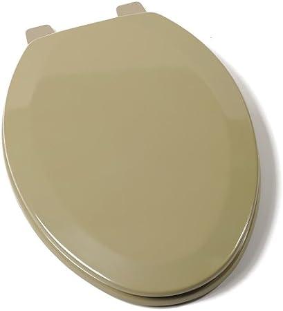 Asiento de Inodoro El/ástico con Cerradura Adecuado para la Mayor/ía de los Inodoros OU Asiento de Inodoro de Felpa Suave y C/álido Lavable Beige, Verde Asiento de Inodoro de 2 Piezas