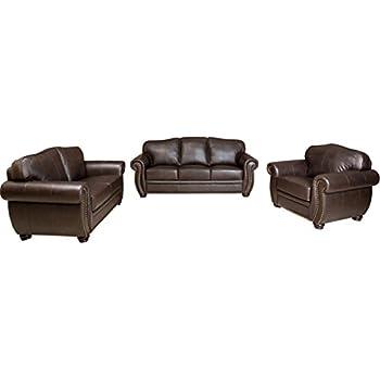 abbyson living palaza premium italian leather