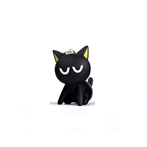 Cat Keychain Lucky Black Charms Key Chain Holder Jewelry Women Girl Cute Harajuku Animal Car (Halloween Cards Etsy)