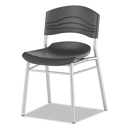 Iceberg 64517 Cafeworks Chair, Blow Molded Polyethylene, Graphite/silver, 2/carton