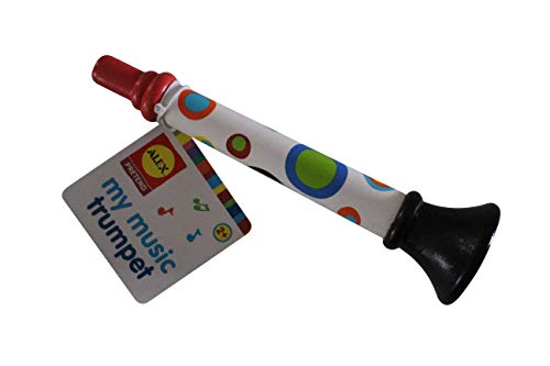 ALEX Wood Trumpet Toy for Toddlers & Kids, Horn Hooter Musical Toy