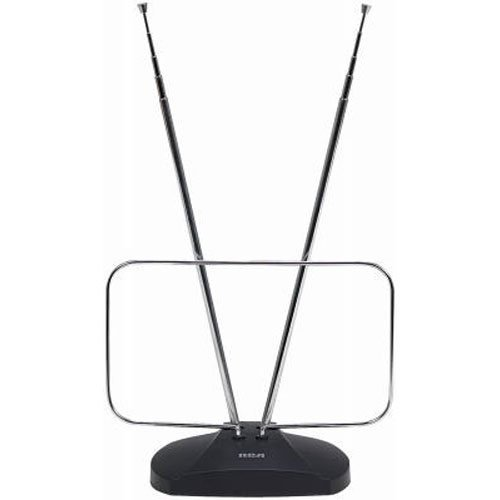 (RCA ANT111E Indoor Digital TV Antenna, Non-Amplified, 40-Mile Range (Renewed))