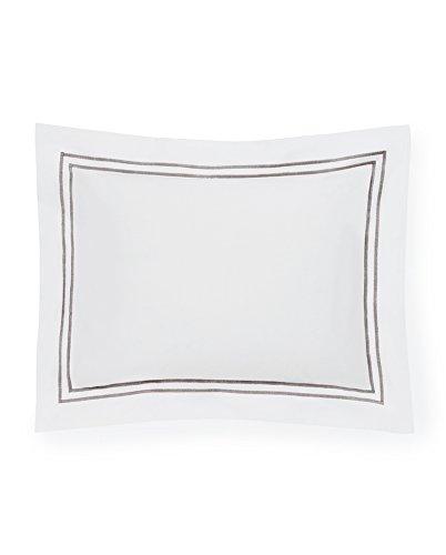Sferra Grande Hotel White/Grey Standard Sham