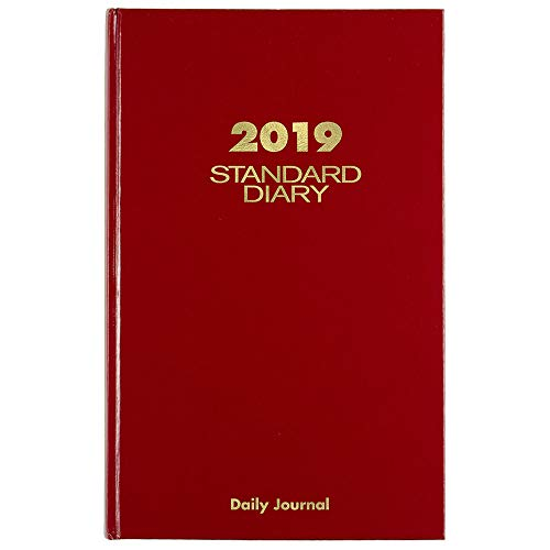 "AT-A-GLANCE 2019 Daily Diary / Address Book, 7-11/16"" x 12-1/8"", Large, Red (SD37713)"