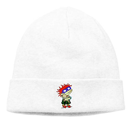 JKSJAN Chuckie Finster Character Rugrats Animated Series Men's and Women's Universal Thin Hedging Cap White