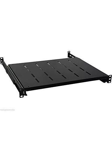 Sliding Rack Server vented Shelf 1U 19'' 4 Post Rack Mount-Adjustable 24''-32'' by Raising Electronics