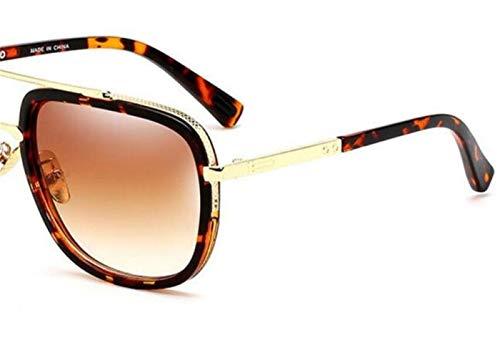 lunettes de Lunettes de à Huyizhi Brown conduire Mode Light voyager soleil Cool Femmes protection UV400 léopard Hommes l'extérieur IwqwXz