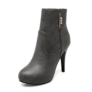 Boots Heel Bootie Winter RTRY CN36 EU36 Boots Ankle Toe For Zipper Women's UK4 Sparkling Stiletto Shoes Leatherette Boots Booties Round Fashion Glitter US6 0CFqw0z