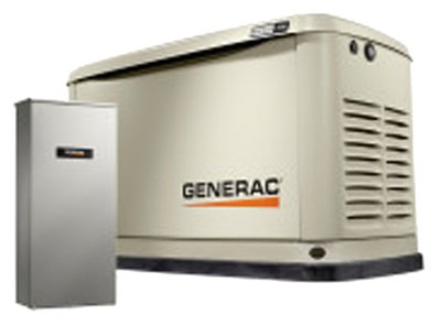 Generac 7030 Guardian Series 9kW/8kW Air Cooled Home Standby Generator with 16 Circuit 100 Amp Transfer (Generac Guardian Series)
