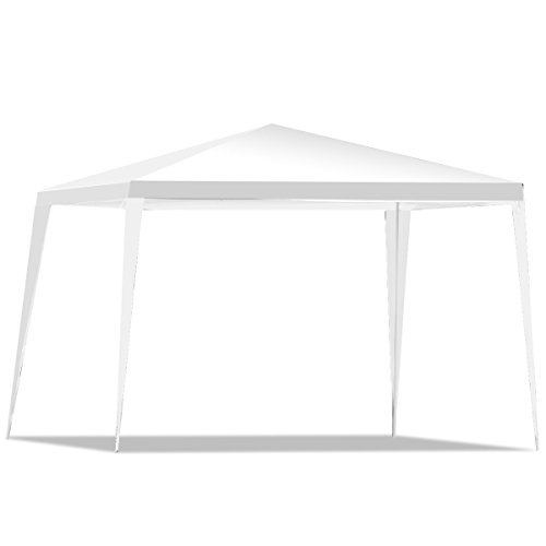 Tangkula 10 x10 Gazebo Canopy, Pavilion Cater Canopy Waterproof Sun Shelter, Outdoor Patio BBQ Wedding Party Events Heavy Duty Folding Portable Camping Tent