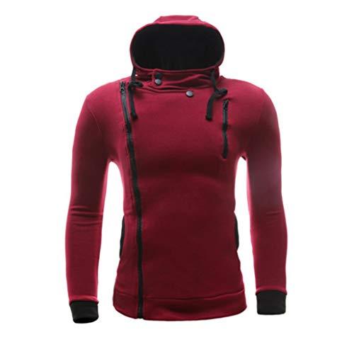 Aimee7 À Haut Shirt Zip Top Casual Vetement Sport Sweat Rouge Plein Air De Capuche Homme T TfrPTn1