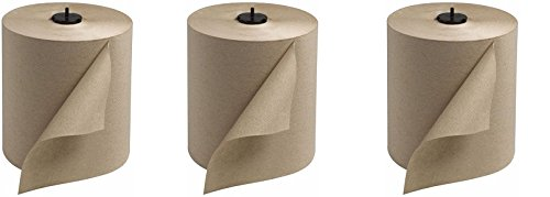 Tork 290088 Universal Single-Ply Hand Roll Towel, Natural, Pack of 6 (3-(Pack))