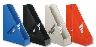 Top-Point - Archivadores verticales de plástico (10 unidades), colores azul,