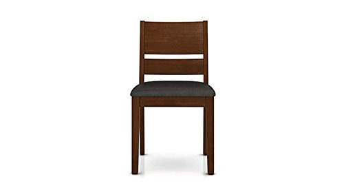 Urban Ladder Cabalo Dining Chairs, Set of 2 (Dark Walnut Finish, Black)