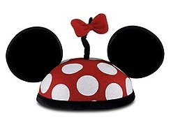 Disney Parks Exclusive Minnie Mouse Polka Dot Mickey Ears Hat w/Tail