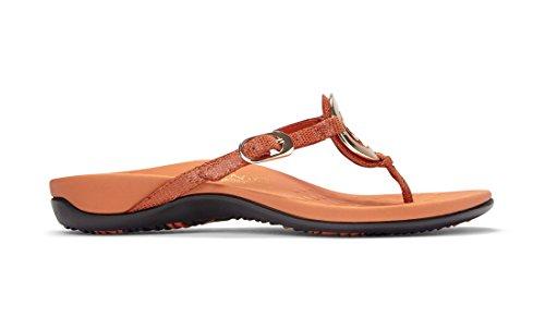 Vionic Womens Karina Toe Post Sandal Orange Size 6