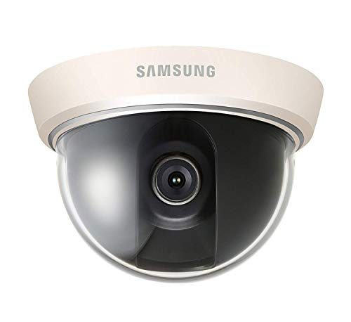 Samsung Techwin Wisenet 600TVL High Resolution Analog Mini Dome Surveillance Security Dome Camera SCD-2010 For Home, Commercial Building, Office (Manufacture Renewed)