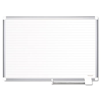 MasterVision MA2794830 Ruled Planning Board, 72x48, White/Silver by MasterVision