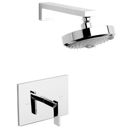 Chrome Bali Polished Faucet - Newport Brass 3-2544BP/26 Polished Chrome Metro Shower Trim Package with Multi Function Shower Head