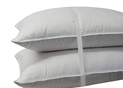 Royal Bedding Luxury Down Pillow - 500 Thread Count 100% Cotton Shell,...